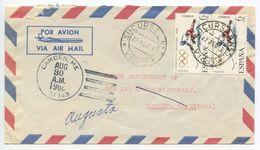Spain 1968 Airmail Cover Vigo To Camden Maine, Sucursal No. 5 Postmark - 1961-70 Lettres