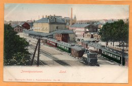 Lund Railroad Station Sweden 1900 Postcard - Sweden