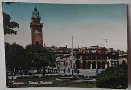 BERGAMO - PIAZZA MATTEOTTI - Animata - B/N Colorato - Vg 1954 L2 - Bergamo