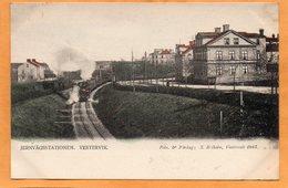 Vestervik Railroad Station Sweden 1900 Postcard - Sweden