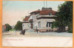 Boras Railroad Station Sweden 1900 Postcard - Sweden