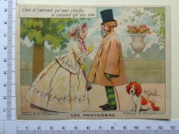 CHROMO ..LITH. GERBAULT....RICQLES...LES PROVERBES....SON DE CLOCHE - Trade Cards