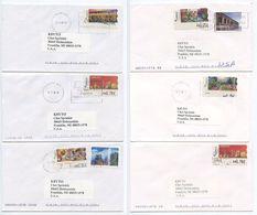 Spain 2000's 7 Covers To U.S., Mix Of Art Paintings ATM Stamps - 1931-Oggi: 2. Rep. - ... Juan Carlos I