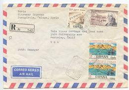 Spain 1978 Registered Airmail Cover Fuengirola, Malaga To Berkeley, California - 1931-Today: 2nd Rep - ... Juan Carlos I