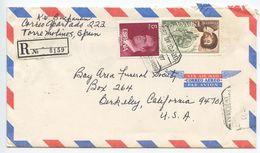 Spain 1977 Registered Airmail Cover Torremolines To Berkeley, California - 1931-Today: 2nd Rep - ... Juan Carlos I