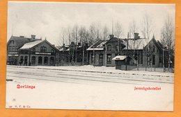 Borlange Railroad Station Sweden 1900 Postcard - Sweden