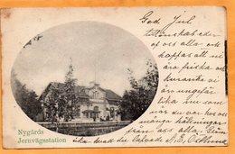 Nygards Railroad Station Sweden 1903 Postcard - Sweden
