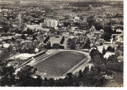 Hirson ,Aisne ,CPSM Aérienne ,Le Stade . - Calcio