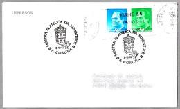 Matasellos Exposicion Filatelica De La Juventud - Xuventude. A Coruña, Galicia, 1992 - 1931-Hoy: 2ª República - ... Juan Carlos I