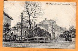 Hallsberg Railroad Station Sweden 1907 Postcard - Sweden