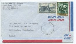 Spain 1960's Airmail Cover & Letter Comillas To Bellingham, Washington - 1961-70 Lettres