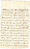 1830. LAC De 1830 - Càd Rethel (ARDENNES) Du 31Déc. - TAXE - (Jour De L'an Bleue Au Verso) -R - Marcofilia (sobres)