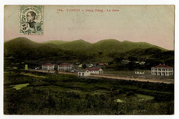 Frankreich, Indochina,Vietnam, Tonkin  Dong Dang 5c - Storia Postale