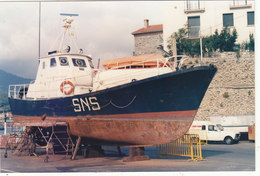"PHOTO 14.3./9.5.CMS CANOT DE LA SNSM "" JOANNES NOEMI "" 07/1988 .A PORT VENDRES.T.B.ETAT .A SAISIR .PETIT PRIX. - Barche"