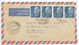 Spain 1964 Airmail Cover Agencia P. Urbana, Schaman, Las Palmas, Canary Islands - 1931-Today: 2nd Rep - ... Juan Carlos I
