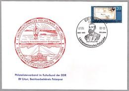 AÑO POLAR INTERNACIONAL - Explorador KARL WEYPRECHT (1838-1881). Erfurt 1982 - Año Polar Internacional