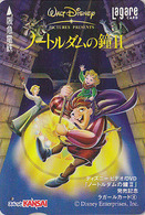 Carte Prépayée Japon DISNEY - Série DVD 4/6 - BOSSU De NOTRE DAME PARIS Cloche / Cinema - MovieJapan Prepaid Lagare Card - Disney