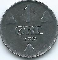 Norway - Haakon VII - 1918 - 1 Øre - KM361a - Iron Coin - Norwegen