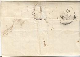 1831. LAC De 1831 - Càd Gannat (ALLIER) - Taxe Arrivée Montluçon (verso) - TAXE - 1801-1848: Precursors XIX