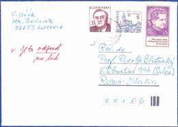 Cover - Slovakia To Roma, Itália - Postmark - Hronsky Beñadik, 1995 - Slowakije