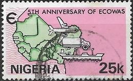 NIGERIA 1980 5th Anniversary Of Economic Community Of West African States - 25k. Transport FU - Nigeria (1961-...)