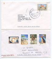 Aruba 2000's 2 Covers To Franklin, Michigan, United States - K8YTO - Curacao, Netherlands Antilles, Aruba