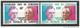 "Cameroun Aerien YT 240 & 241 (PA) "" De Gaulle F. Eboué "" 1975 Neuf** - Kameroen (1960-...)"
