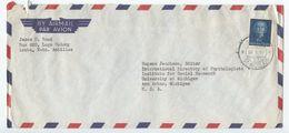 Netherlands Antilles 1957 Airmail Cover Aruba, St. Nicolaas To Ann Arbor, Michigan - Curacao, Netherlands Antilles, Aruba