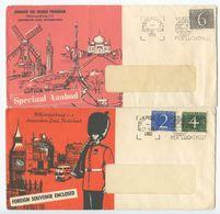 Netherlands 1958/60 2 Advertising Covers Amsterdam - Around The World Program - Period 1949-1980 (Juliana)