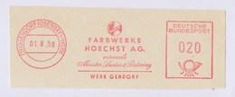 BRD AFS - GENDORF (OBERBAY)-WERK, Farbwerke Hoechst AG. Vormals Meister Lucius & Brüning 1.8.59 - Factories & Industries