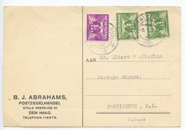 Netherlands 1933 Postcard 'sGravenhage / Den Haag To Providence Rhode Island - Period 1891-1948 (Wilhelmina)