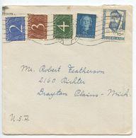 Netherlands 1954 Cover Amsterdam To Drayton Plains, Michigan - Period 1949-1980 (Juliana)
