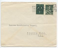 Netherlands 1945 Cover Rotterdam - Kampen's Glashandel To Elmira, New York - Period 1891-1948 (Wilhelmina)