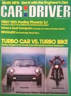 CA157 Autozeitschrift Car And Driver, August 1979, Porsche 930 Vs. Kawasaki Z1-R TC, Neuwertig - Verkehr