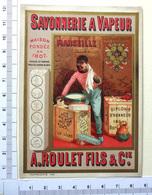 CHROMO  DORE  ..LITH.VALLET MINOT....SAVON DE MARSEILLE.....SAVONNERIE A VAPEUR - Trade Cards