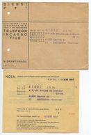 Netherlands C.1937 3 Covers 's-Gravenhage - Dienst PTT With Telephone Bills & Receipts - Period 1891-1948 (Wilhelmina)