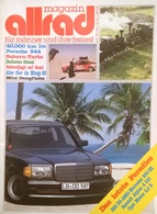 CA159 Autozeitschrift Allrad Magazin, Nr. 6/1981, Porsche 944, AMG-Mercedes 500 SE, Renault Alpine Neuwertig - Auto & Verkehr
