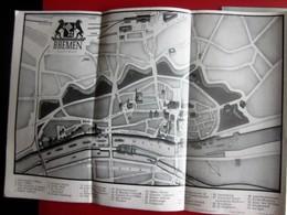 ALTE Touristenbroschüre- BREMEN BREME- LAGEPLAN DER HOTELS-GASTHOFE-FREMDENHEIME-OLD Tourist Brochure - Reiseprospekte
