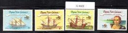 APR1522 - PAPUA NUOVA GUINEA 1992 , Yvert N. 646/649  ***  (2380A) . Colombo - Papouasie-Nouvelle-Guinée