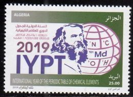 ALGERIA, 2019, MNH, CHEMISTRY, INTERNATIONAL YEAR OF PERIODIC TABLE, CHEMICAL ELEMENTS, 1v - Chemistry