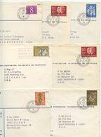 Netherlands 1960's 7 PTT Covers 's-Gravenhage - Filatelistische Dienst, Mix Of Stamps - Period 1949-1980 (Juliana)