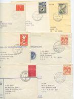 Netherlands 1950's 7 PTT Covers/Postcard 's-Gravenhage - Filatelistische Dienst - Period 1949-1980 (Juliana)