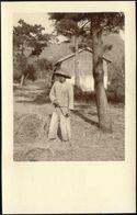 China, Native Chinese Labourer (1920s) Ingenohl's Real Photo Postcard - China