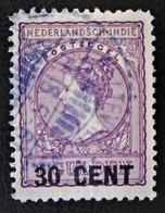 SURCHARGE 1918 - OBLITERE - YT 124 - MI 131C - DENTELE 11 - 11 1/2  VARIETE D'OBLITERATION - Niederländisch-Indien