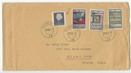 Netherlands 1966 Cover Nijegen To Miami Florida, Scott 347, B409, B410, B412 - Period 1949-1980 (Juliana)