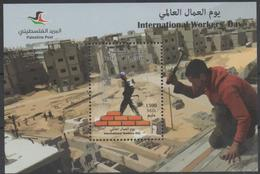 PALESTINE, 2016, MNH, INTERNATIONAL WORKERS DAY, BUILDERS, S/SHEET - Jobs