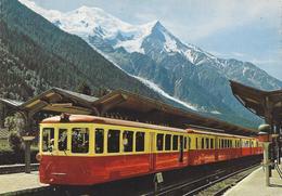 74 CHAMONIX MONT BLANC  GARE LIGNE A VOIX METRIQUE VALLÉE DE  CHAMONIX  MONT BLANC CHATELARD MARTIGNY - Chamonix-Mont-Blanc