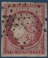 France Céres N°6a 1fr Carmin Clair Obl étoile Belles Marges Et Presentation Mais 2e Choix - 1849-1850 Cérès