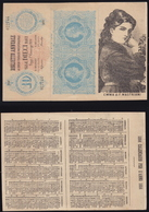CALENDARIETTO PER L' ANNO 1884- RIPRODUZIONE BIGLIETTO BANCA- ORIGINALE  (7/30) - Calendari
