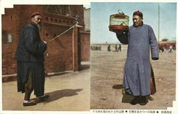 China, PEKING PEIPING, Native Chinese Men With Bird Cages (1910s) Postcard - China